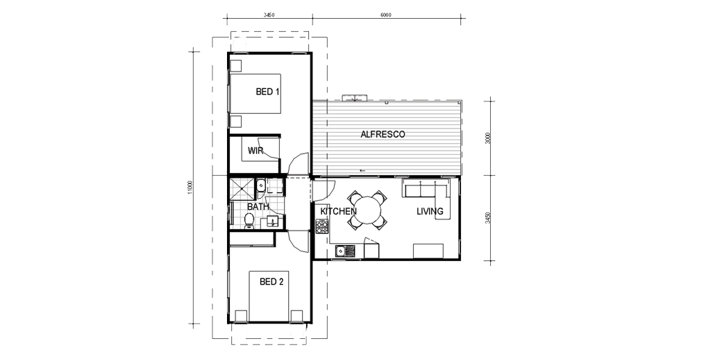 60m2 house plans house interior for Home design 60m2